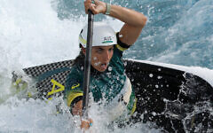 Jessica Fox of Team Australia competes during the Women's Kayak Slalom Semi-final at the Tokyo Olympics, July 28, 2021. (Photo by Adam Pretty/Getty Images)