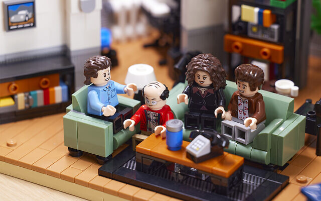 """A 1,326-piece Lego set includes the main cast of """"Seinfeld,"""" including Jerry, George, Elaine, Kramer and Newman. (Courtesy)"""