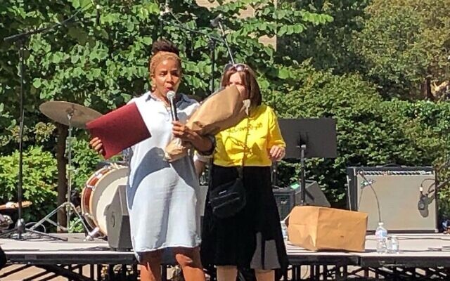 Black and Jewish leaders take part in the One Crown Heights Festival, Sunday, Aug. 16, 2021, marking the 30th anniversary of the riots that roiled the Brooklyn neighborhood. (One Crown Heights)