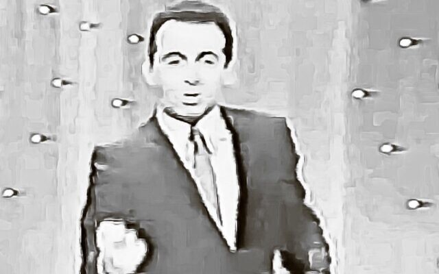 """Jackie Mason appears on """"Hollywood Palace"""" in 1964. (YouTube)"""