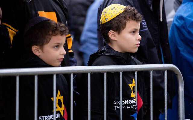 Children attend a rally for peace and unity in Point State Park in Pittsburgh, Pennsylvania to remember victims of the Tree of Life synagogue shooting, Nov. 9, 2018. (Flickr Commons/Gov. Tom Wolf)