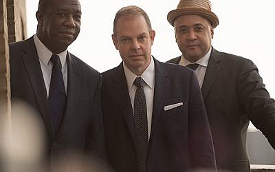 """Pianist Bill Charlap, flanked by drummer Kenny Washington, left, and bassist Peter Washington — a performing trio with a """"special rapport"""". Photo courtesy Bill Charlap"""