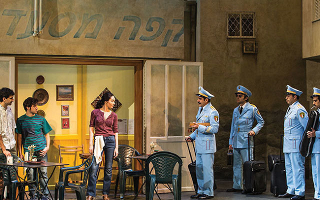 "The Broadway production of ""The Band's Visit"" is playwright Itamar Moses' first production set in Israel. Photo by matthew murphy"