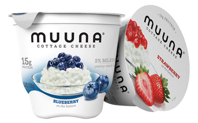 Muuna adds fruit to some varieties of cottage cheese to appeal to the American palate.