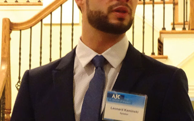 "Leonard Kaminski, the American Jewish Committee's assistant director of government affairs in Berlin said ""It is important to have Jews everywhere to fight against anti-Semitism."""