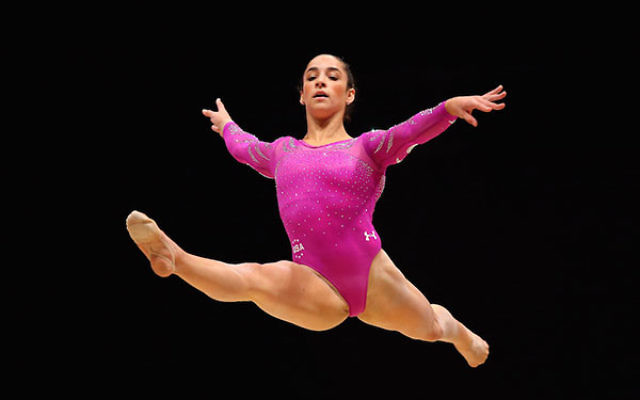 Aley Raisman competing in the floor during day two of the 2015 World Artistic Gymnastics Championships at The SSE Hydro in Glasgow, Scotland, Oct. 24, 2014. (Alex Livesey/Getty Images)