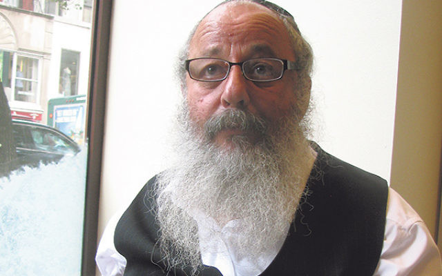 Rabbi Avraham Kaminer in Manhattan last month, during his visit to the States to promote a special-needs care complex for the Negev town of Arad.