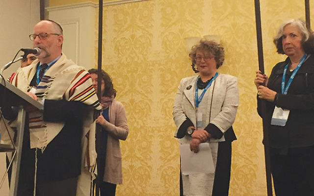Ann Berman-Waldorf in a Jan. 25 ceremony celebrating her installation as ARJE president.