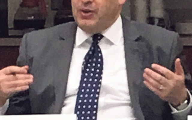"New JCPA president David Bernstein urged members of the Greater MetroWest Community Relations Committee to ""build bridges to groups that are most vulnerable"" in being targeted for support of the anti-Israel Boycott, Divestment, and Sanctions m"