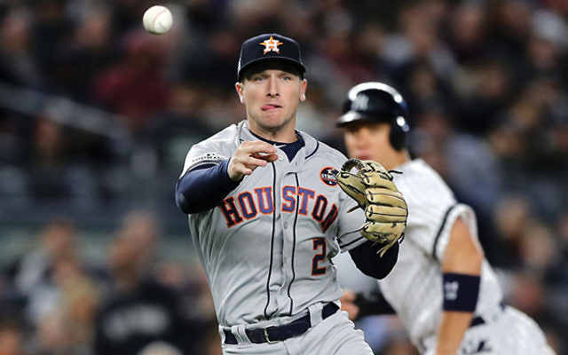 The Astros' Alex Bregman, above, and the Dodgers' Joc Pederson. Photos by Getty Images