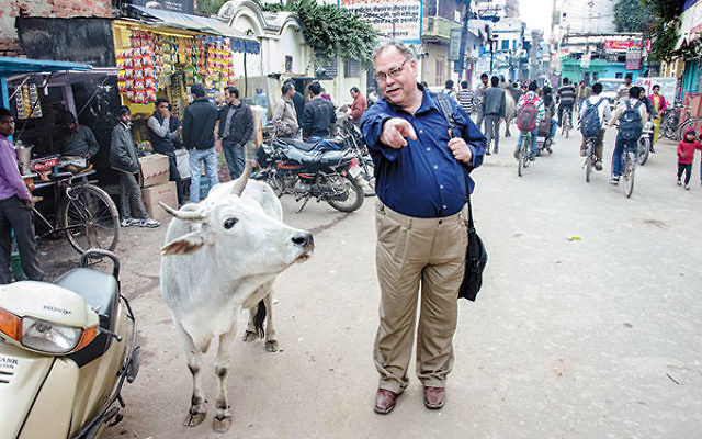 """Dr. Alan Brill in Varanasi, where he held a Fulbright fellowship leading a project, """"A Needed Dialogue and Encounter of Hinduism and Judaism,"""" at Banaras Hindu University."""