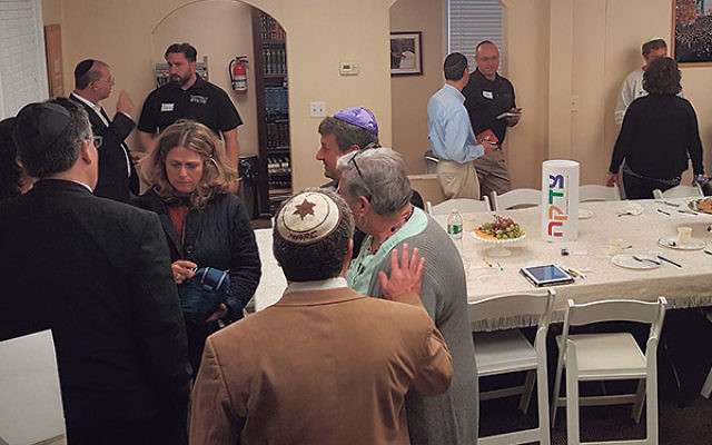 Members mingle during a recent meeting of the Jewish Business Network of Middlesex County.