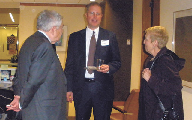 People get to know one another at the new federation business and professional society.