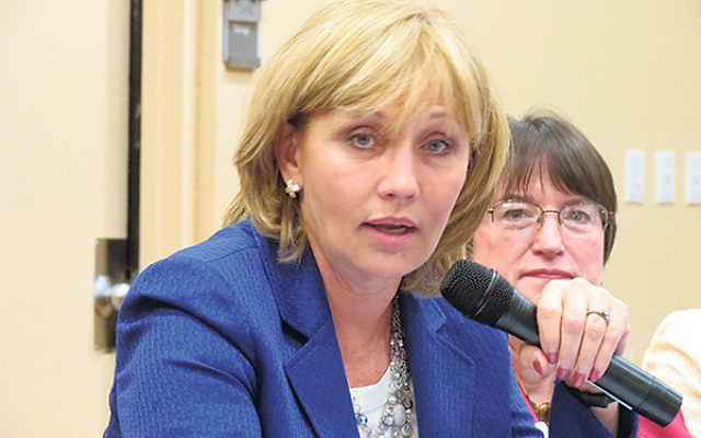 """Lt. Gov. Kim Guadagno told attendees at a May 8 public policy roundtable on domestic violence to """"never forget the impact this has on children."""""""