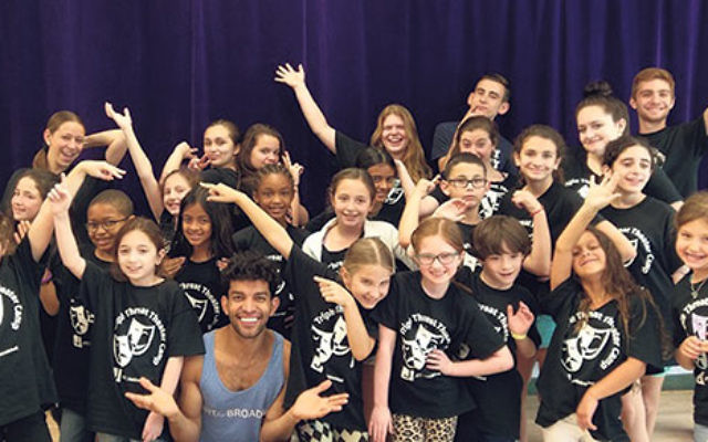 Budding entertainers in Deeny Riback's Triple Threat Theater welcomed Broadway performer Carlos E. Gonzalez leading a workshop the first week of camp.