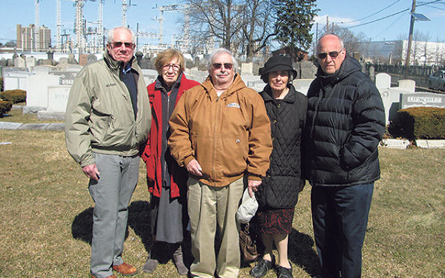 Members of the Gomel Chesed Cemetery Association, from left, Al Schimkowitz, Ruth Strashun, Alan Coen, Roslyn Schwartzberg, and Gordon Haas.
