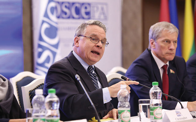 Rep. Chris Smith. Photo courtesy Belarus House of Representatives