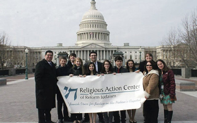 Students from Temple Shalom in Aberdeen on a confirmation trip to Washington, DC, in February visited the Reform Movement's Religious Action Center.