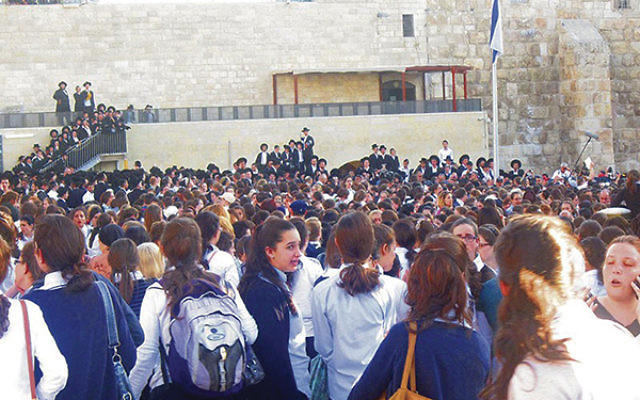 In 2013, then a rabbi at the Reconstructionist Congregation Beth Hatikvah in Summit, Amy Small witnessed a crowd of yeshiva students blocking the Women of the Wall from praying at the Kotel. Photo by Ben Sales