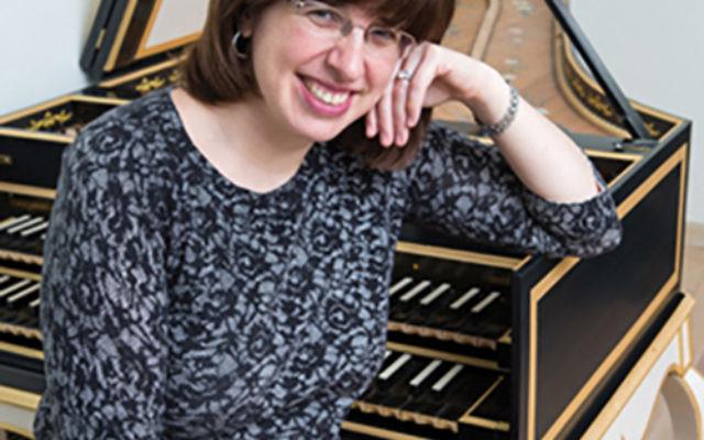 Rebecca Cypess, at her harpsichord.