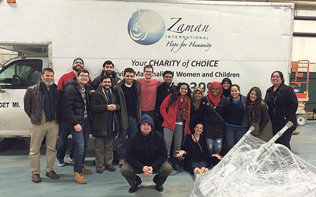Members of Princeton's Muslim-Jewish dialogue group with members of the Michigan Muslim Community Council and Zaman International.