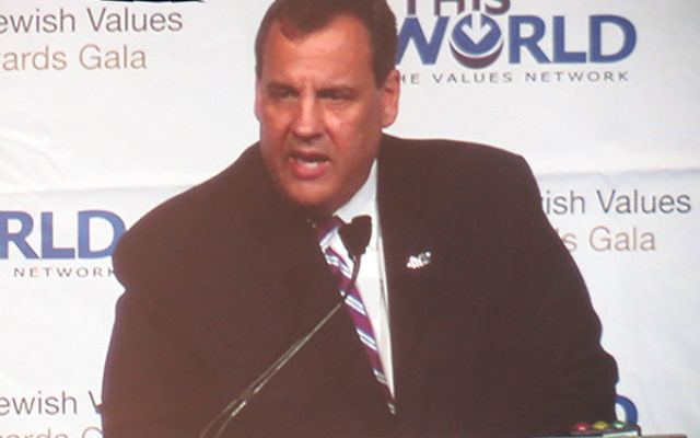 """In a blistering attack on Barack Obama, Gov. Chris Christie said the president is """"unwilling to stand up to anyone in the world except"""" Prime Minister Netanyahu."""