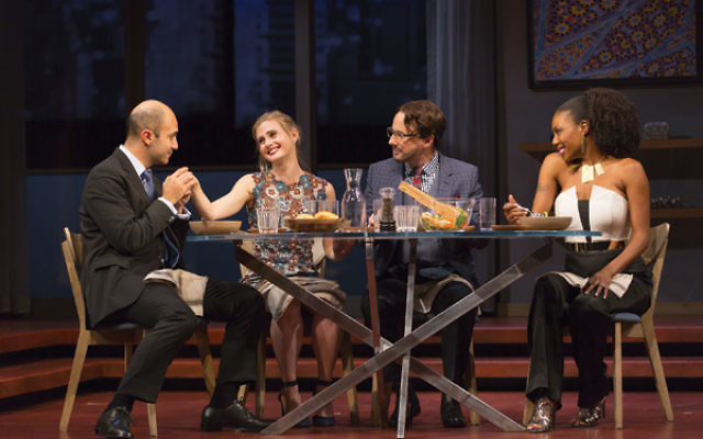 A scene from the Pulitzer Prize-winning play, Disgraced, which deals with Muslim-Jewish relationships and Islamophobia.