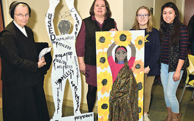 Representing Villa Walsh Academy in Morristown are, from left, Sister Mary Beth, Karen Cunico, Julia Pallone, and Clare Cahir.
