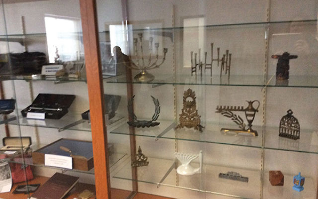 Some of the artifacts on display at the Jewish Historical Society of North Jersey in Fair Lawn. Photos courtesy Jewish Historical Society of North Jersey