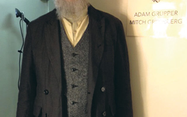At rehearsals, Mitch Greenberg in costume as the town beggar, Nachum, in the current Broadway production of Fiddler on the Roof.