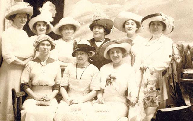 Members of the Hebrew Ladies Sewing Society, who made and donated dresses to poor women in Newark in 1886.