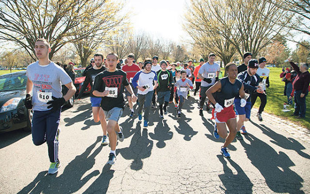 A record 275 runners participated in the Ezra Schwartz Memorial FIT 5K.