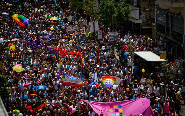 Some 200,000 people participating in the annual Gay Pride Parade in Tel Aviv, June 3, 2016.