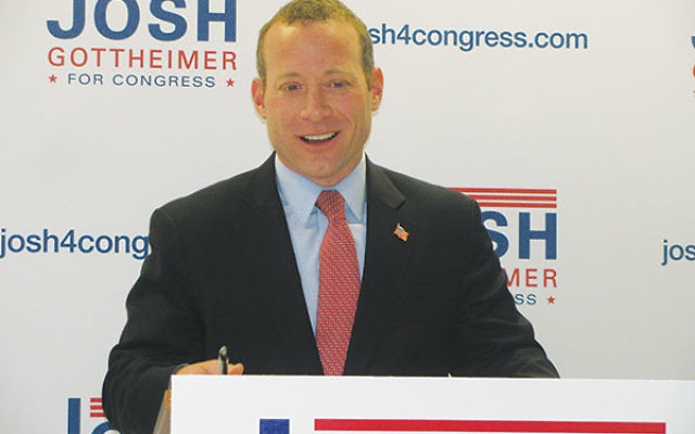 Josh Gottheimer announces his candidacy for Congress during a press conference in Northvale on Feb. 8.