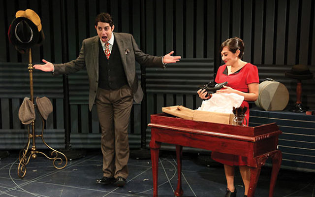 """Eli Gelb and Lucy DeVito, who will reprise their roles in """"How My Grandparents Fell in Love"""" at the NJ Repertory Company, from the Ensemble Studio Theater Production."""