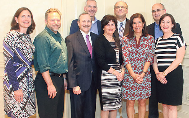 Members of the Greenwood House capital campaign committee, from left, Stacey Mann, Dan Goodman, Marc Citron, Jeff Perlman, Marissa Treu, Richard Goldstein, Carol Golden, Conrad Druker, and Susan Falcon.