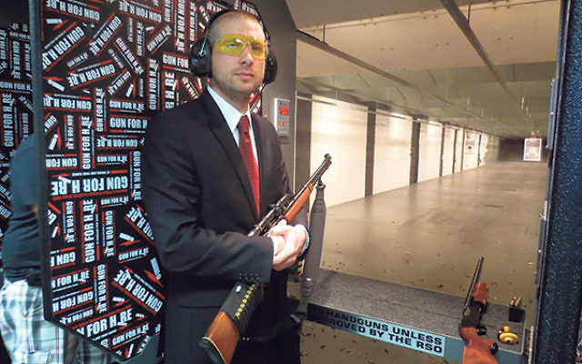 "Joshua Levy of Teaneck, a member of the Golani Rifle & Pistol Club, says the Rabbinical Council of America's discouragement of gun ownership ""invites greater danger."""
