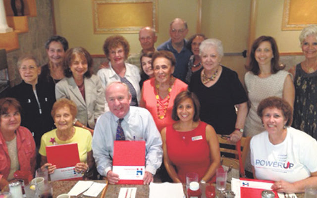 Meeting with Rep. Rodney Frelinghuysen, bottom row, center, are, from left, Betty Rubin, Mitzi Kreinberg, Hadassah Northern NJ president Stephanie Z. Bonder, and region area vice president Gail Black; middle row, past region president Karen Goldman, Jean
