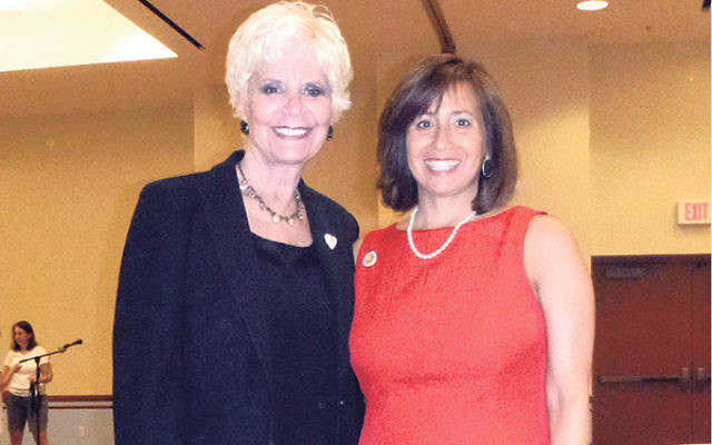 Stephanie Bonder, right, and Jill Tekel are president and organization vice president, respectively, of the Northern NJ Region of Hadassah.