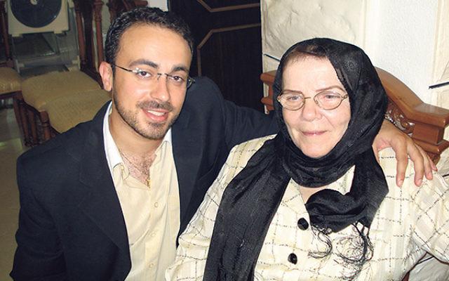 Mark Halawa and his grandmother, Rowaida Mizrahi, in Amman, Jordan, in 2006.