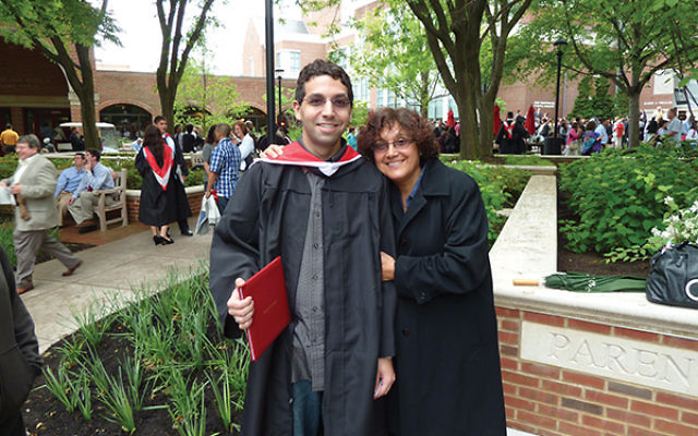 Eta Levenson started Parent to Parent Peer Support after the suicide of her son, Eric, in 2016. She is pictured with Eric at his graduation from Muhlenberg College in Allentown, Pa., in May 2010. Photo courtesy Eta Levenson