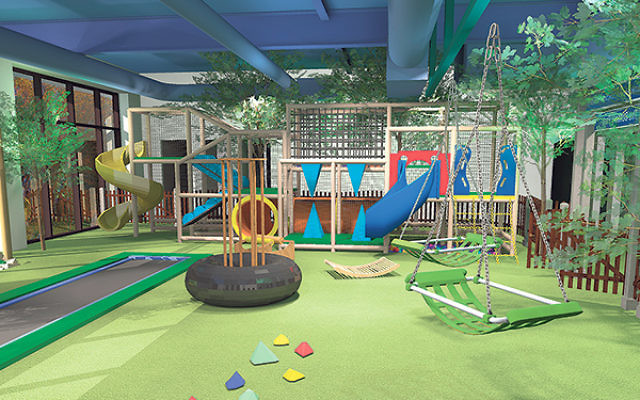 A rendering of the therapeutic play area being funded by the Healthcare Foundation of NJ.