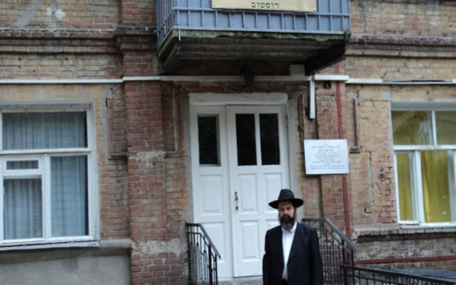Rabbi Mendy Herson visits the present-day Chabad Center in Rostov, the building where the Rabbi Sholom Dovber taught until his death in 1920.