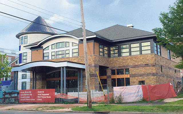 The Eva and Arie Halpern Hillel House is nearing completion and is expected to open in about two months.