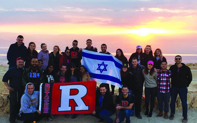 Student leaders visit Masada at sunrise, part of the history lessons offered during their Rutgers Hillel-sponsored trip. Photos courtesy Rutgers Hillel