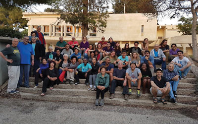 University of Beersheva students with members of Kibbutz Nahal Oz. Photos courtesy Keren Ness