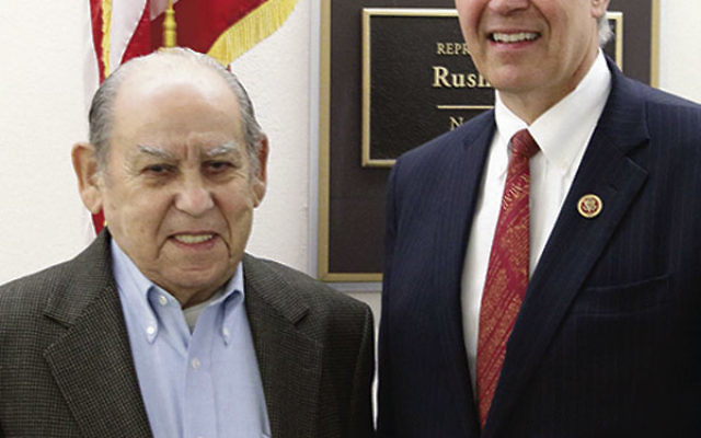 Rep. Rush Holt welcomed Holocaust survivor Sol Nudelman to Capitol Hill for the Congressional Holocaust remembrance.