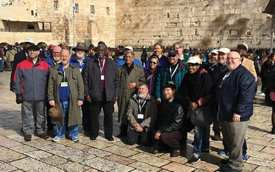 Members of the Interfaith Clergy Journey to Israel at the Western Wall in Jerusalem. Photos courtesy Jewish Federation in the Heart of NJ