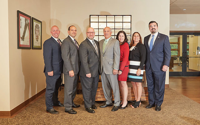From left, Keith Krivitzky, Andrew Carey, Chris Porrino, Jeffrey Schwartz, Susan Antman, Amy Keller, and Jared Maples.  Deirdre Ryan Photography