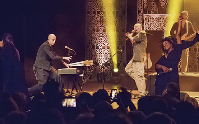 The Idan Raichel Project played a program of cross-cultural songs at the Yom Ha'atzmaut concert.